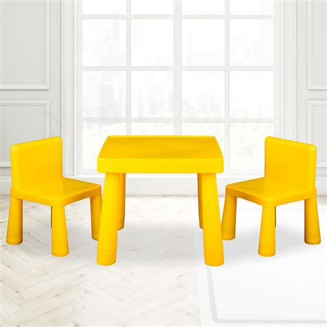 activity table and chair set kids table chair play furniture set plastic fountain