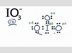 IO3- Lewis Structure: How to Draw the Lewis Structure for ... Iodate