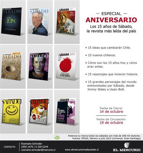 especial aniversario especial aniversario revista sabado el mercurio media center el mercurio media center