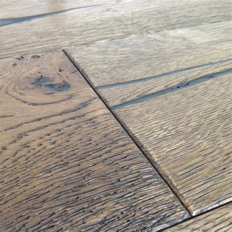 Distressed Engineered Flooring - loire distressed 20mm mocha oak heavy brushed engineered