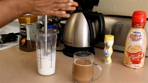 how to foam milk for a latte coffee recipe frothy on