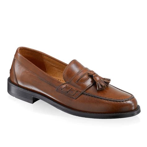 russel and bromley loafers keeble 3 tassel college loafer in brown leather