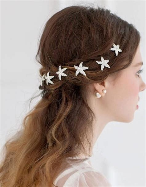 hair pin collection khopa starfish rhinestone wedding hair pins 2434844 weddbook