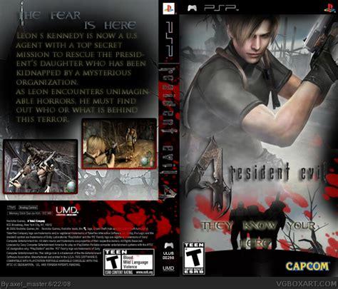 theme psp resident evil 4 resident evil 4 psp box art cover by axel master