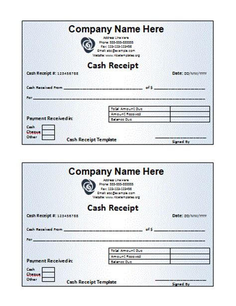 template for receipt free receipt templates free printable word templates