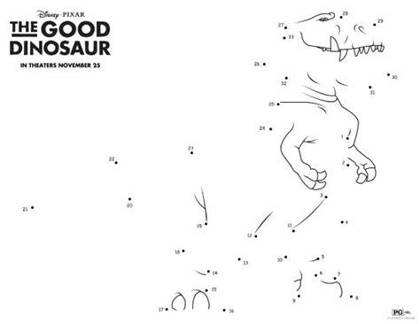 printable dot to dot dinosaurs disney the good dinosaur connect the dots mama likes this