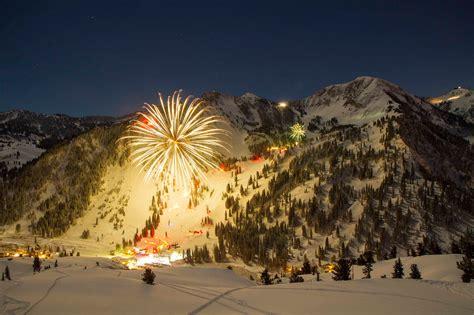 utah fireworks new year new year s torchlight parade alta ski area alta utah