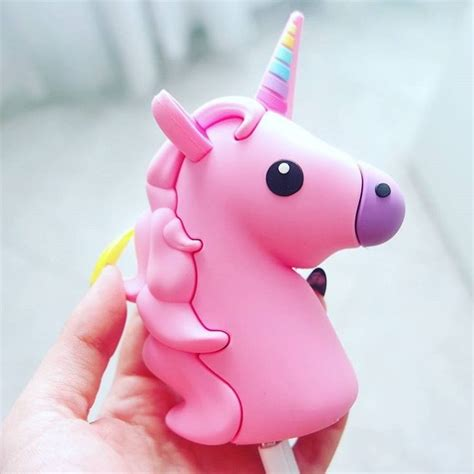 emoji unicorn floss pink unicorn emoji portable charger power bank