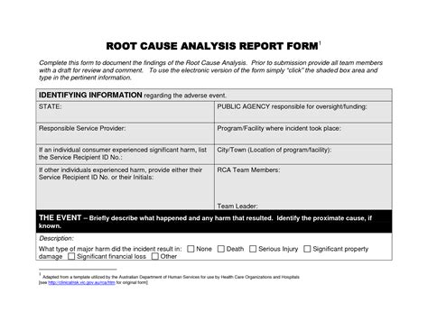 free editable root cause analysis report template helloalive