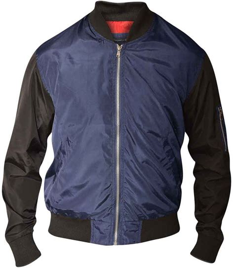 Louis Navy By Rhavi Store d555 louis lined bomber jacket navy black i store