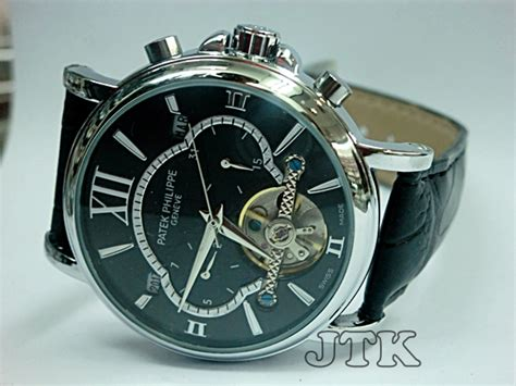 Jam Tangan Patek Philippe Black Leather Murah jam tangan patek philippe monkey turbilon leather rp 350 000