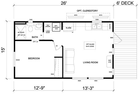 Driftwood Floor Plan    RV Park Model Homes    Texas