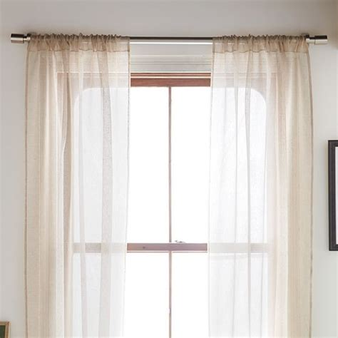 window sheer curtains sheer linen window panel modern curtains by west elm