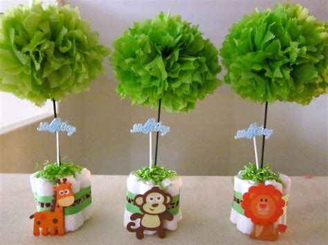 Baby Shower Table Center Pieces by Baby Zoo Table Centerpieces My Baby Shower Gifts
