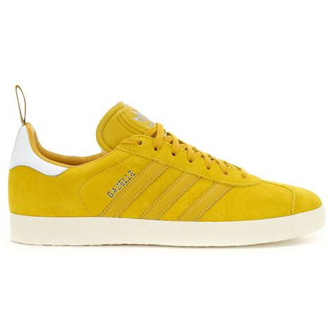 yellow shoes adidas men s gazelle yellow leather ostrich pack shoes