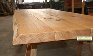 tisch mit baumkante tischplatten nach ma 223 holzmoebelkontor de