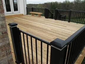 decks 7 deck rail ideas for your cedar deck st louis decks