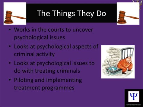 Forensic Psychology Description by Forensic Psychologist