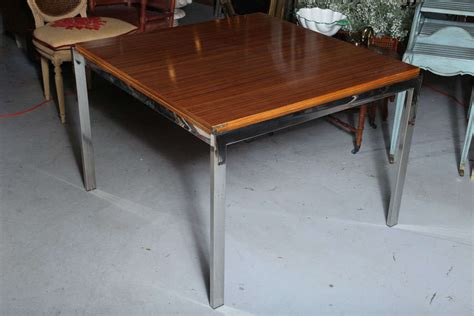 Zebra Wood Dining Table Pace Zebra Wood Dining Table At 1stdibs