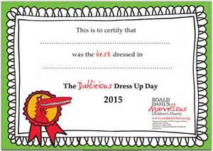 Language Certification Letter dahlicious dress up day roald dahl s marvellous children