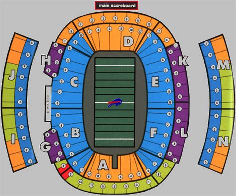 ralph wilson seating chart landry s tickets seating chart ralph wilson stadium