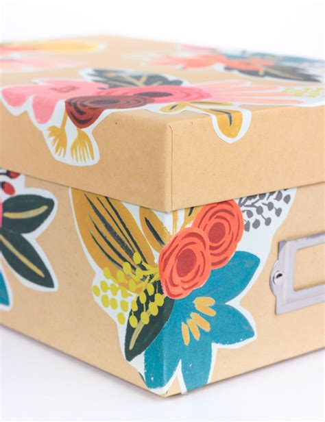 How To Decoupage A Box - diy floral decoupage storage box the crafted