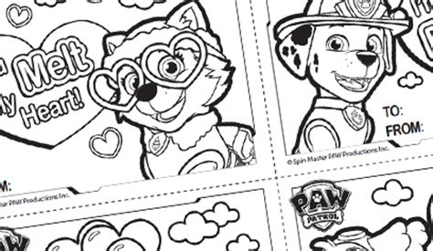 valentines day coloring pages paw patrol paw patrol s official website