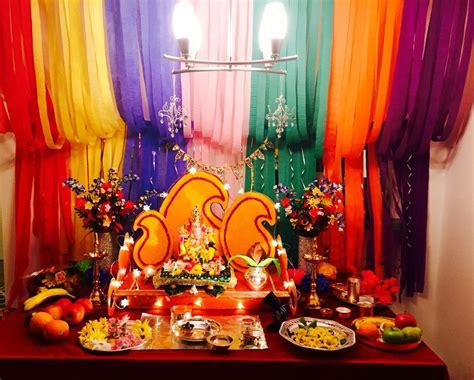 ganpati decoration  home   home pinterest