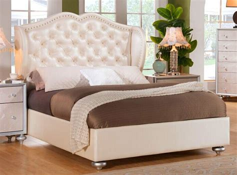 crystal tufted bed glam crystal tufted leather bed