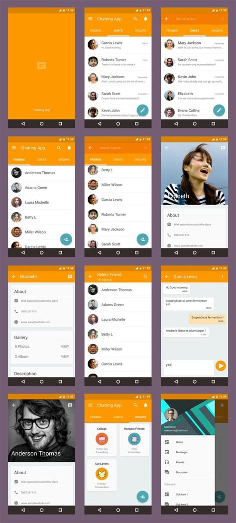 online layout design for android 170 best mobile design images on pinterest user