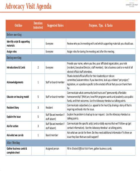 9 sle visit agenda free sle exle format