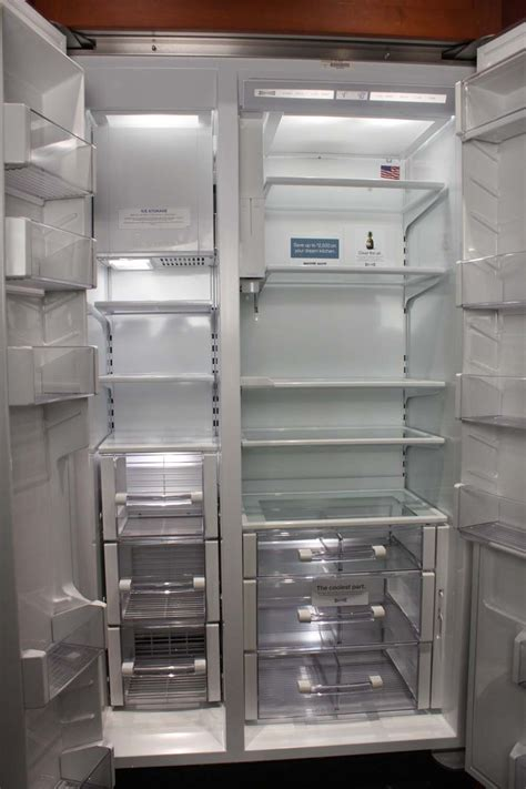 sub zero side by side 5697 sub zero 42 quot built in side by side refrigerator bi42sido