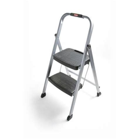 rubbermaid 2 step steel step stool ladder