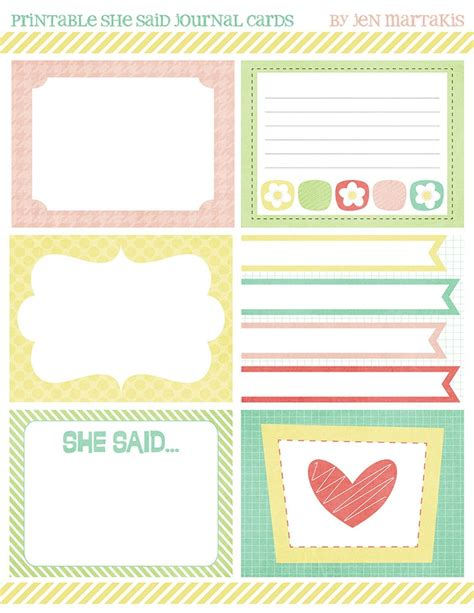 printable j cards 17 best images about free journal cards for project life