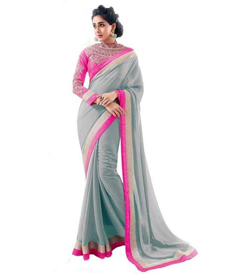 Orderan A N Sari sareeka sarees grey chiffon saree buy sareeka sarees grey chiffon saree at low price
