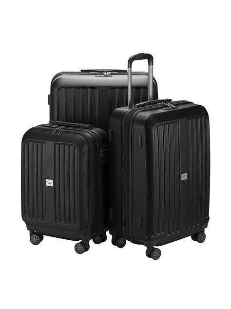 billig len kaufen preiswerter koffer x berg 3er kofferset schwarz matt