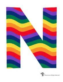 rainbow letter n woo jr kids activities