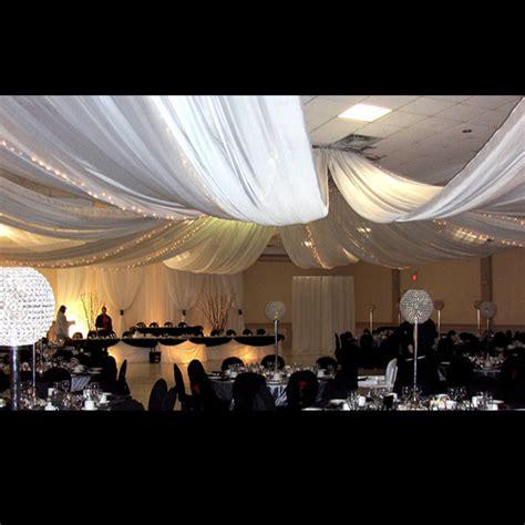 ceiling drape 12 panel sheer voile 40ft ceiling draping kit 82 feet wide