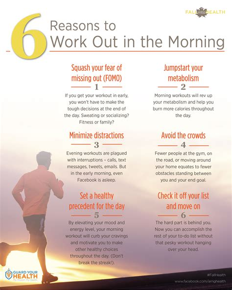 reasons to work out in the morning at arng guard your health