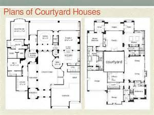 style house plans with courtyard courtyard house style