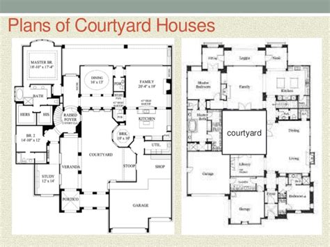 u shaped house plans with courtyard