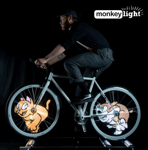 monkey light pro allows bike riders to screen animation on