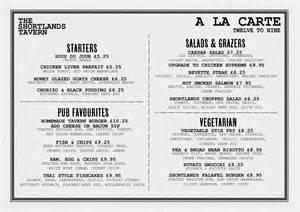 A La Carte Menu Template by A La Carte Menu Exle