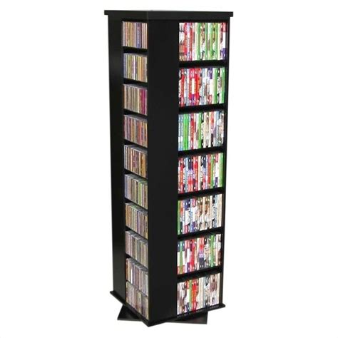 dvd storage tower cd dvd spinning tower in multiple finishes 2390