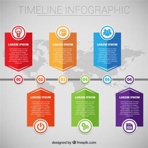 timeline infographic template free vector timeline
