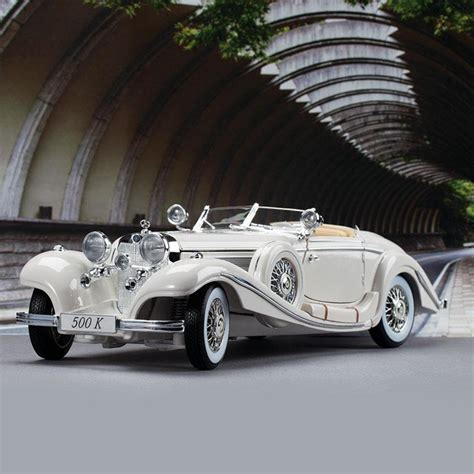 Real Deals Home Decor 1936 Mercedes Benz 500k Special Roadster Pearl White