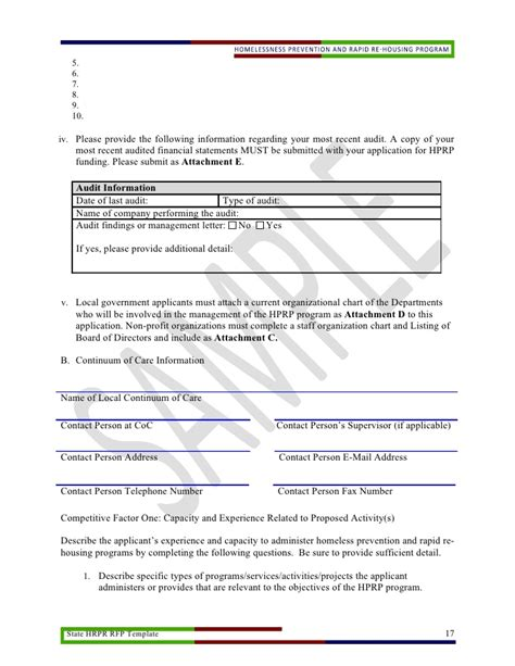 State Hprp Rfp Template Doc Federal Government Rfp Template