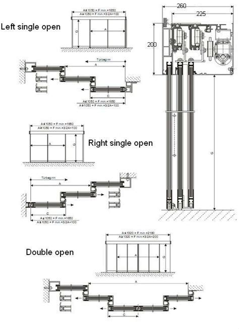sliding door section detail glass automatic telescopic sliding door buy telescopic