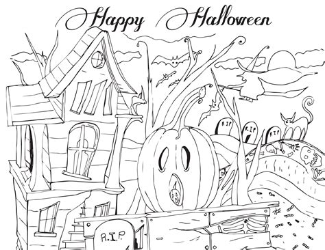 colouring pages happy halloween kid s activity northern news