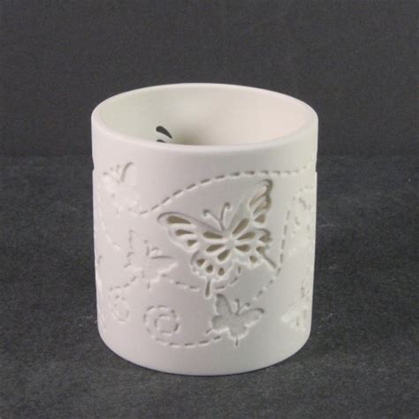 Butterfly Candle Holder stylys white porcelain tealight candle holder butterfly